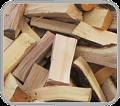 sypané dřevo